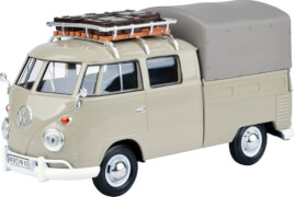 MM79553 VW T1 mit Dachträger & Gepäck, beige