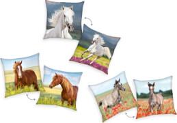Pferde Dekokissen, 40 x 40 cm